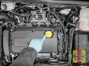 Illustration of step: Locate the oil filler cap - step 4