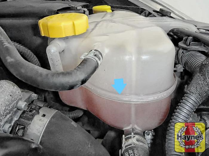 Opel corsa  cdti checking coolant level