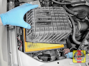 Illustration of step: Now carefully separate and lift away the air filter body - step 5