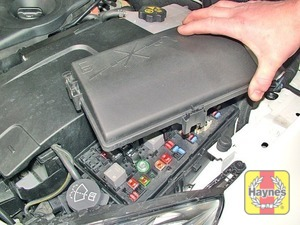 Illustration of step: Fuses are located on the left-hand side of the engine compartment - step 1