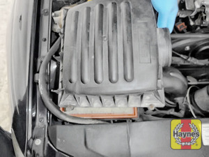 Illustration of step: Carefully separate and lift away the air filter body - step 4