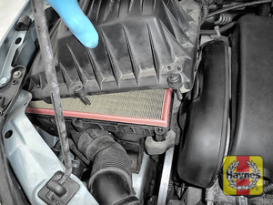 Illustration of step: Carefully separate and lift away the air filter body - step 5