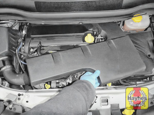 Illustration of step: To gain access to the oil filter cartridge, release and remove the engine cover - step 10