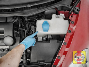 Illustration of step: Locate the screen wash filler cap - step 3