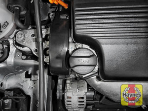 Illustration of step: Always replace the dipstick, oil filler cap and engine cove - step 9