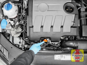 Illustration of step: Always replace the dipstick and oil filler cap - step 12