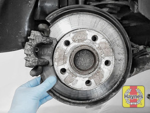 Illustration of step: Check condition of the rear brake discs - step 9