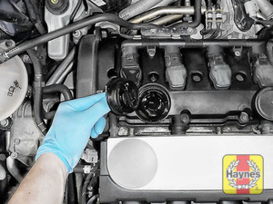 Illustration of step: You are now ready to refill the engine with fresh oil - step 8