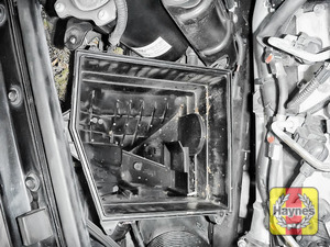 Illustration of step: Check air filter box for debris - step 14