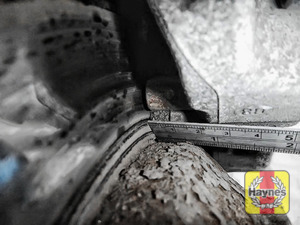 Illustration of step: Measure brake pad wear thickness - step 9