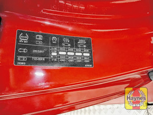 Illustration of step: Look for a sticker showing your vehicles tyre pressures located in the driver door aperture - step 3