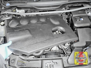 Illustration of step: You will need to release the engine cover to access the oil filter - step 1