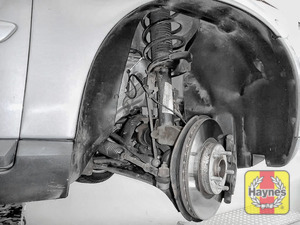 Illustration of step: Now quickly check all the brake pipes for condition, check for any leaks, and also inspect the rubber gaitors for integrity - step 7