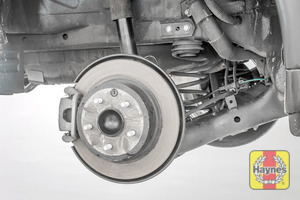Illustration of step: Take a good look around the brake system and suspension arm, checking for any leaks - step 13