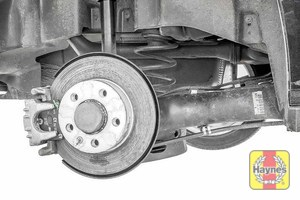 Illustration of step: Take a good look around brake system and the suspension arm, check for any leaks - step 9