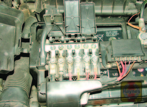 Illustration of step: Additional fuses and fusible links can be found in the fusebox above the vehicle battery - step 2