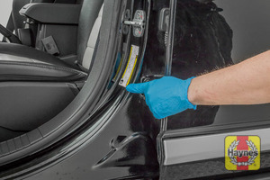 Illustration of step: Look for a sticker showing your vehicles tyre pressures located in the door aperture - step 3