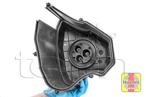 Illustration of step: Place this part in a safe place away from the engine compartment - step 9