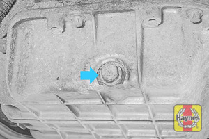 Illustration of step: Replace (new) sump plug and washer – do not over tighten - step 6