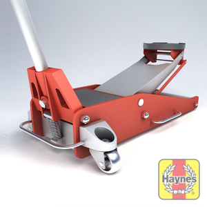 Illustration of step: Always use a hydraulic trolley jack, never use your emergency jack supplied with the car - step 4