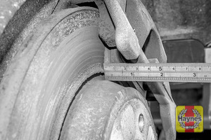 Illustration of step: Measure brake pad wear thickness - step 10