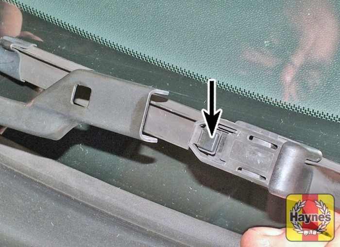 Illustration Of Step To Remove A Windscreen Wiper Blade Pull The Arm Fully Away