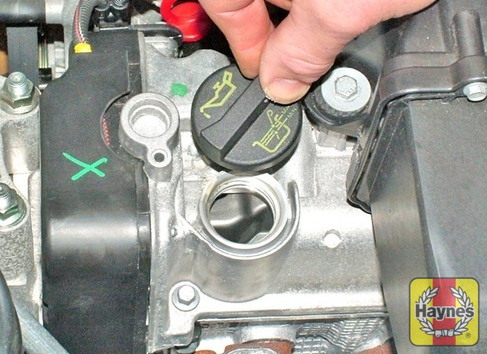 Illustration Of Step Oil Is Added Through The Filler Cap Car Care Step