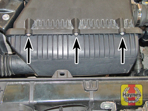 Illustration of step:  Undo the screws and open the filter cover  - DOHC 16v models - step 9