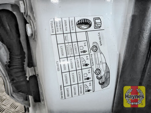 Illustration of step: Look for a sticker showing your vehicle's tyre pressures located in the driver's door aperture If you need to change a wheel, click below  - step 3