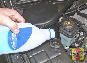 Illustration of step:  Add a mixture of water and antifreeze to the expansion tank, until the coolant is up to the MAX mark - Car Care - step 20