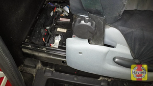 Illustration of step: The battery is located behind the driver's seat - step 1