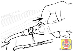 Illustration of step:  Dipstick markings – 200 TDi engine  - Vehicle care - step 9