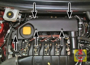 Illustration of step:  Unscrew the five Allen screws and remove the air filter cover  - TD4 engine - step 15