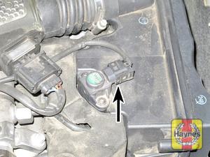 Illustration of step:  Disconnect the air pressure sensor wiring plug  - V6 engines - step 14