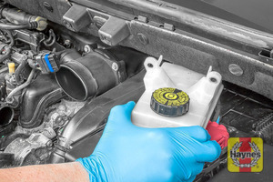 Illustration of step: Move the brake fluid reservoir to one side to allow removal of the air filter cover - step 10