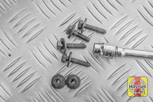 Illustration of step: First, undo the 10mm retaining bolts - step 2