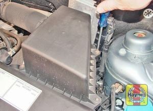 Illustration of step:  Undo the retaining screws - 1.2 litre engines - step 2