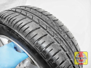 Illustration of step: Before refitting the tyres, take a look at the tyre tread, there is a UK legal requirement to have a minimum of 1 - step 13