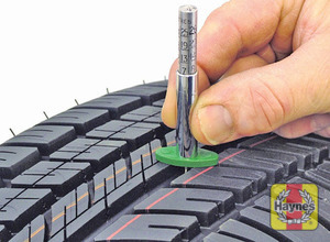 Illustration of step: Alternatively, tread wear can be monitored with an inexpensive device known as a tread depth indicator gauge - step 1