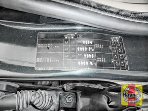Illustration of step: Look for a sticker showing your vehicle's tyre pressures located in the driver's door aperture - step 1