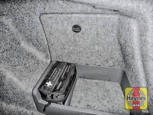 Illustration of step: Locate the battery, it's in the car's boot - step 1