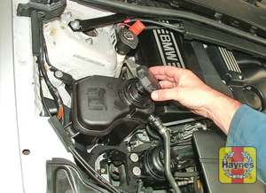Illustration of step:  If topping-up is necessary, wait until the engine is cold - Car Care - step 20