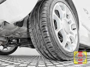 Illustration of step:  Take a quick look at the tyre treads and sidewall condition If you need to change a wheel, click below  - step 2