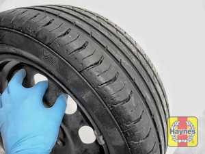 Illustration of step: Before refitting the tyres, take a look at the tyre tread, as there is a UK legal requirement to have a minimum of 1 - step 13