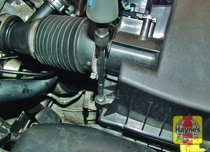 Illustration of step:  Undo the four bolts securing the cover to the air cleaner housing  - 1.6 litre engines - step 12