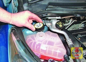 Illustration of step:  If topping-up is necessary, wait until the engine is cold - Car care - step 17