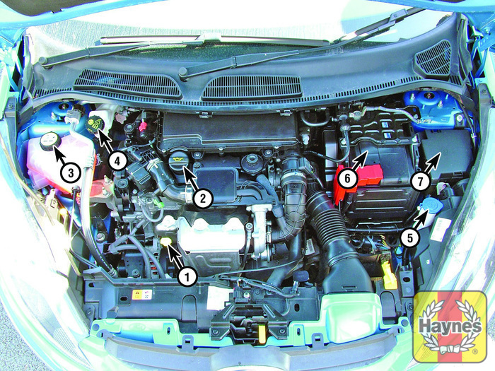 Engine Compartment Fuse Box Ford Fiesta : Ford fiesta v fluid level checks