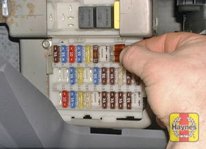 Illustration of step: Remove the passengers glovebox to access the main fusebox - step 1