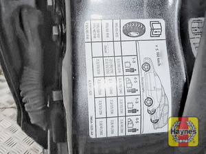 Illustration of step: Look for a sticker showing your vehicle's tyre pressures located in the driver's door aperture - step 3