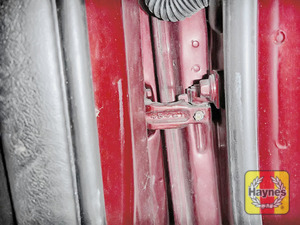 Illustration of step: Why not lubricate your hinges? Use a can of lithium grease, spray a very small amount onto each door hinge and don't forget the bonnet catch - step 4